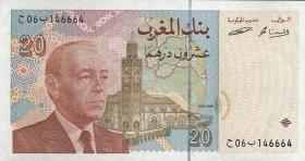 Marokko / Morocco P.67a 20 Dirhams 1996 (1)