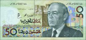 Marokko / Morocco P.64d 50 Dirhams 1987 (1)