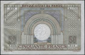 Marokko / Morocco P.21 50 Francs 1945 (1/1-)