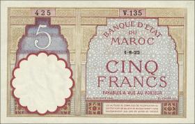 Marokko / Morocco P.23Aa 5 Francs 1922 (1941) (1/1-)