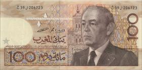 Marokko / Morocco P.65c 100 Dirhams 1987 (1)
