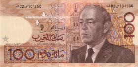 Marokko / Morocco P.65d 100 Dirhams 1987 (2)