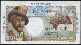 Martinique P.30 50 Francs (1947-49) (3+)