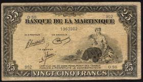 Martinique P.17 25 Francs (1943-45) (4)