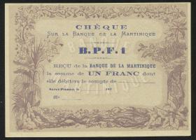 Martinique P.05A 1 Franc (1870) (1)