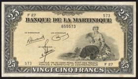 Martinique P.17 25 Francs (1943-1945) (2)