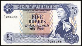 Mauritius P.30c 5 Rupien 1967 (1-)