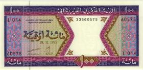 Mauretanien / Mauritania P.04i 100 Ouguiya 1999 (1)