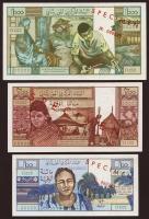 Mauretanien / Mauritania P.01s-03s 100,200,1000 Ouguiya 1973 Specimen