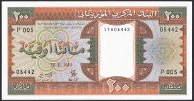 Mauretanien / Mauritania P.05b 200 Ouguiya 1985 (1)