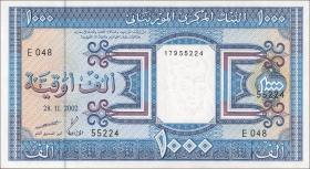Mauretanien / Mauritania P.09c 1000 Ouguiya 2002 (1)
