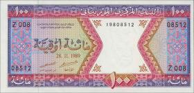 Mauretanien / Mauritania P.04d 100 Ouguiya 1989 (1)