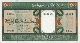 Mauretanien / Mauritania P.06g 500 Ouguiya 1993 (1)