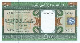 Mauretanien / Mauritania P.08b 500 Ouguiya 2001 (1)