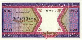 Mauretanien / Mauritania P.04c 100 Ouguiya 1985 (1)