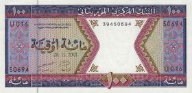 Mauretanien / Mauritania P.04j 100 Ouguiya 2001 (1)