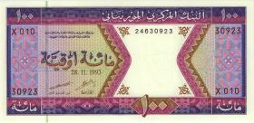 Mauretanien / Mauritania P.04f 100 Ouguiya 1993 (1)