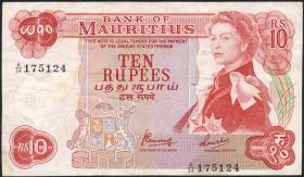 Mauritius P.31c 10 Rupien 1967 (3)