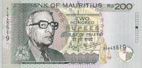 Mauritius P.52b 200 Rupien 2001 (1)