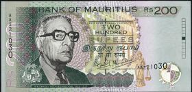Mauritius P.52a 200 Rupien 1999 (1)