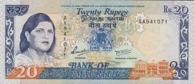 Mauritius P.36 20 Rupien o.D. (1)
