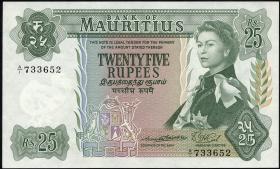 Mauritius P.32a 25 Rupien 1967 (1)