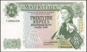 Mauritius P.32a 25 Rupien 1967 (2/1)