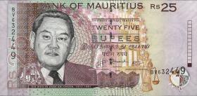Mauritius P.49d 25 Rupien 2009 (1)