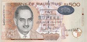 Mauritius P.53b 500 Rupien 2001 (1)