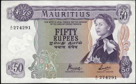 Mauritius P.33c 50 Rupien 1967 (1/1-)