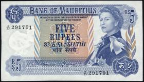 Mauritius P.30b 5 Rupien 1967 (1)