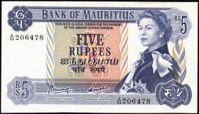Mauritius P.30c 5 Rupien 1967 (1)