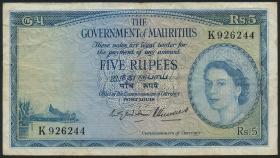 Mauritius P.27 5 Rupien (1954) (3)