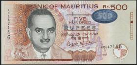 Mauritius P.53a 500 Rupien 1999 (2)