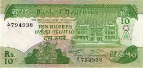 Mauritius P.35a 10 Rupien (1985) (1)