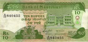 Mauritius P.35b 10 Rupien (1985) (3)