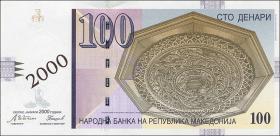 Mazedonien / Macedonia P.20 100 Denari 2000 Millennium-Ausgabe (1)