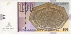 Mazedonien / Macedonia P.16h 100 Denari 2008 (1)