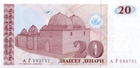 Mazedonien / Macedonia P.10 20 Denari 1993 (1)