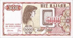 Mazedonien / Macedonia P.07 5000 Denar 1992 (1)
