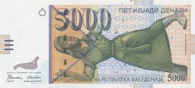 Mazedonien / Macedonia P.19 5000 Denari 1996 (1)