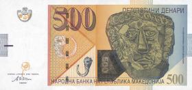 Mazedonien / Macedonia P.21a 500 Denari 2003 (1)