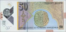 Mazedonien / Macedonia P.neu 50 Denari 2018 Polymer (1)