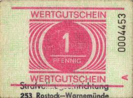 MDI-26 DDR Gefängnisgeld 1 Pfennig (1982-1990) (2)