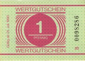 MDI-34 DDR Gefängnisgeld 1 Pfennig (1990) (1-)
