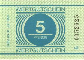 MDI-35 DDR Gefängnisgeld 5 Pfennig (1990) (1-)