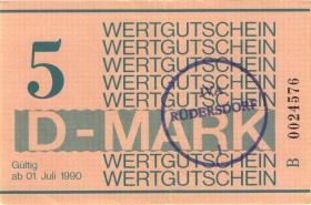 MDI-39 DDR Gefängnisgeld 5 D-Mark (1990) (2)