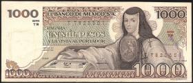 Mexiko / Mexico P.076d 1000 Pesos 1982 (2)