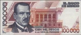 Mexiko / Mexico P.094b 100.000 Pesos 1991 (1)
