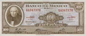 Mexiko / Mexico P.061g 100 Pesos 1972 (1)